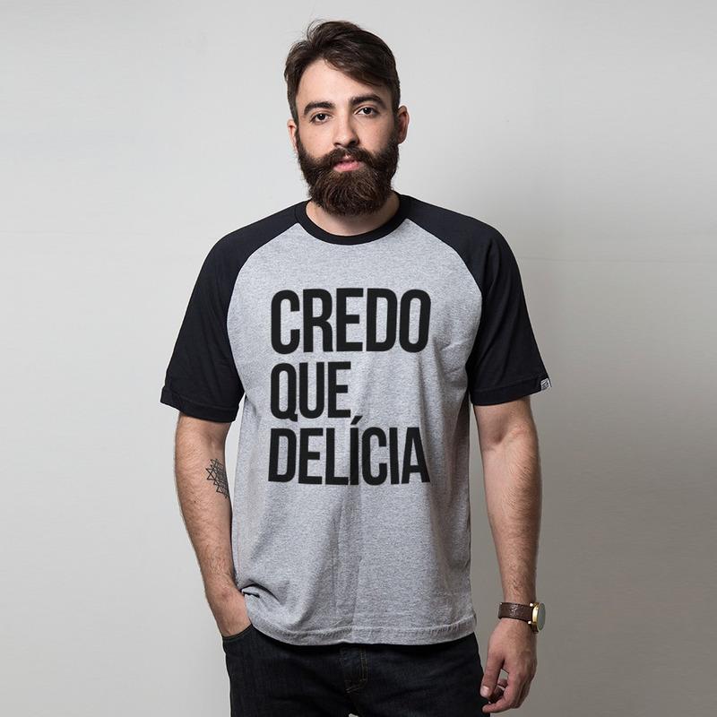 CAMISETA RAGLAN CINZA - CREDO