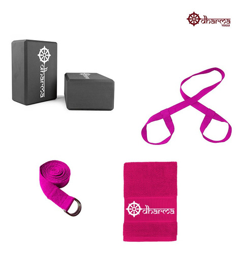 Kit Acessórios Props Yoga E Pilates Rosa