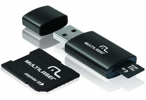 Cartão De Memória Multilaser Microsd C/ Adaptador Sd Mc057 Original