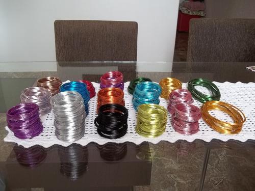 Aparador Vidro Preto ~ Comprar Arame Aluminio Colorido 4 Rolinhos 5mts Cada