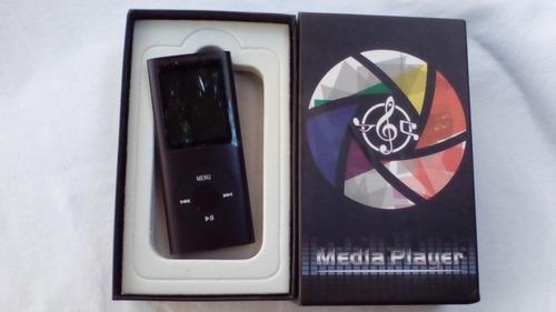 Mp3 Player / Mp4 Player 8gb+caixa+usb+fone Intra Auricular.