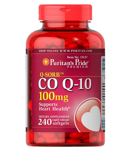Coenzima Q10 100 Mg 240 Softgels  Puritans Pride Cod. 085