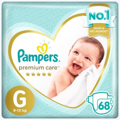 Fralda Pampers Premium Care Jumbo G 68 Unidades Original