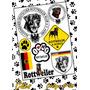 Adesivos Cachorro Rottweiler Em Cartelas 20x30 Carro E Casa