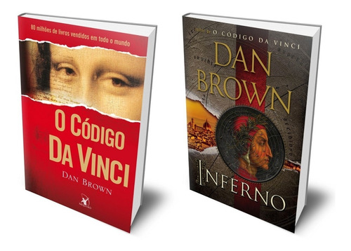 Livros O Código Da Vinci & Inferno Dan Brown Policial E Ação Original