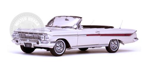 Chevrolet Impala Conversível 1961 Branco Sun Star 1/18 Original
