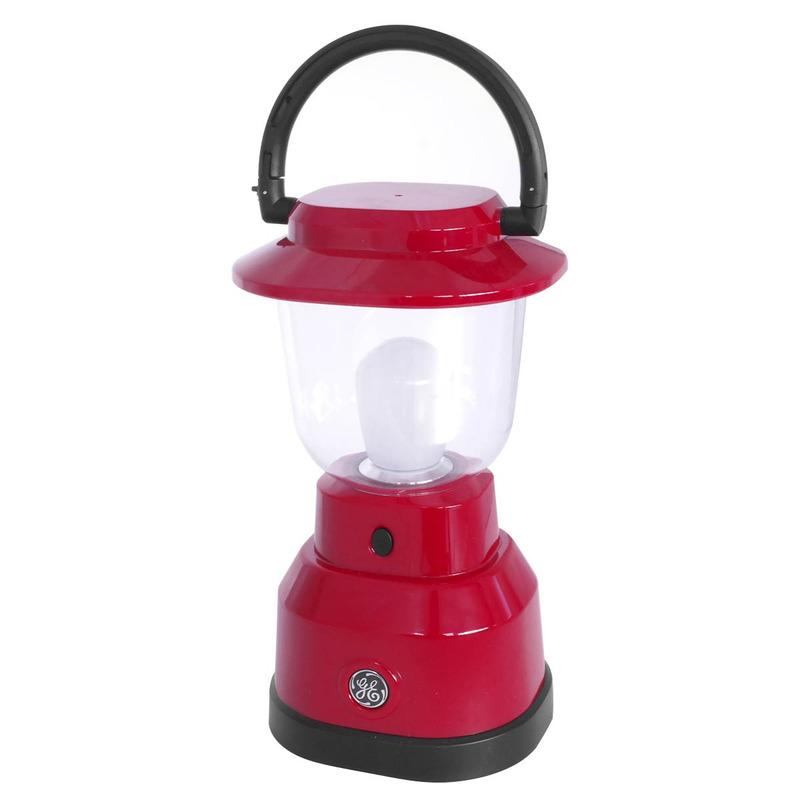 Lampião Vermelho de LED com 500 Lumens e 3 Níveis de Luz General Electric - 039629