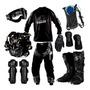 Kit Equipamento Motocross Trilha Pro Tork Mochila Hidratação