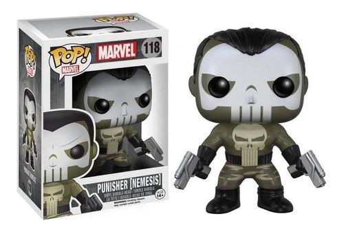 Boneco Funko Pop - Justiceiro Punisher Nemesis 118 - Marvel Original