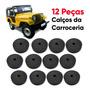 Jogo Calços Carroceria Cabine Ford Jeep Willys ( 12 Peças )