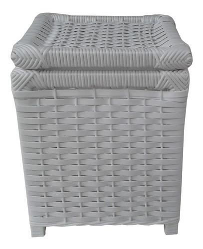 Cesto Lixo Fibra Sintética Branco 25x25x32 Original