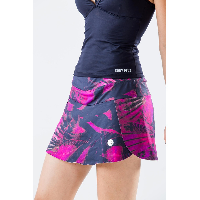 Saia Shorts Light Exclusivo Penas Pink