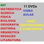 Kit 11 Dvds Vídeo Aulas Para Vestibulares E Concursos Ç1b