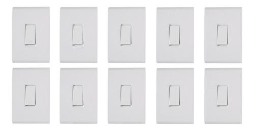 10 Conjunto Tramontina Liz Placa 4x2 + Interruptor Simples Original