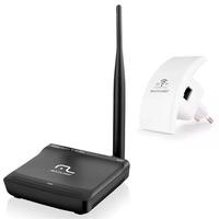 Kit Roteador Wireless 150 Mbps Com Antena e Repetidor de Sinal 300 Mpbs Multilaser