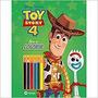 Livro Toy Story 4 Ler E Colorir Blister Com Lapis De Cor