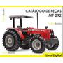 Catálogo De Peças Trator Massey Ferguson Mf 292