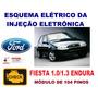 Esquema Elétrico Injeção Fiesta 1.0 / 1.3 Endura Tabela