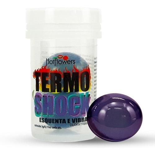 Bolinha Termo Shock Hot Ball 02 Unidades Hotflowers Sexshop Original