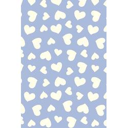 Tricoline Coração Azul