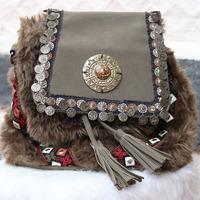 Bolsa boho brown chique - BLS00012