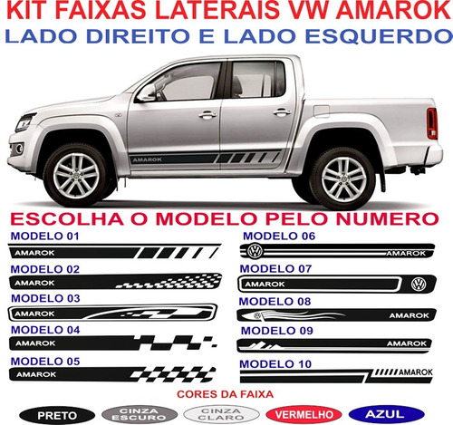Faixa Lateral  Amarok 4 Motion Cabine Dupla Acessorios Kit Original