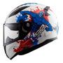 Capacete Moto Infantil Ls2 Ff353 Monster Bc Az Narigueira