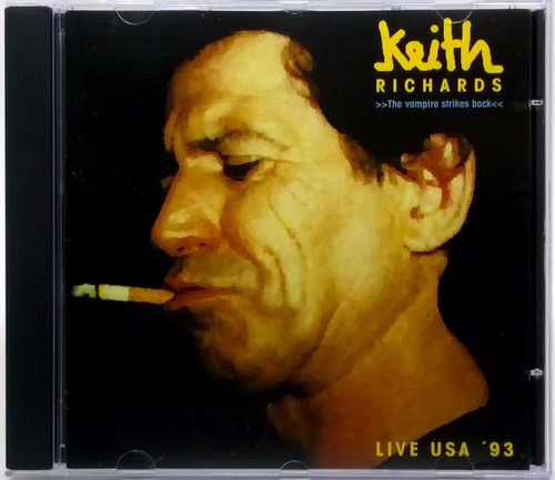 Cd Keith Richards The Vampire Strikes Back Live Us Tour 1993 Original