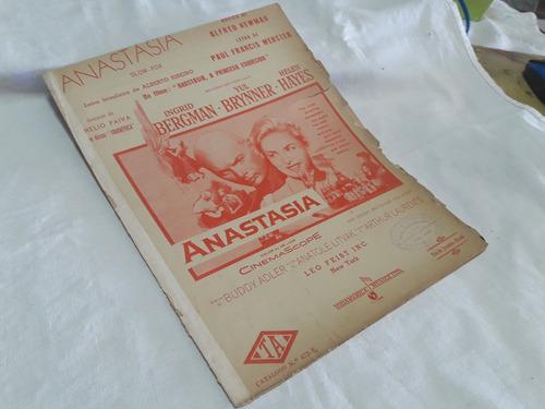 Partitura Anastasia - Alfred Newman Original