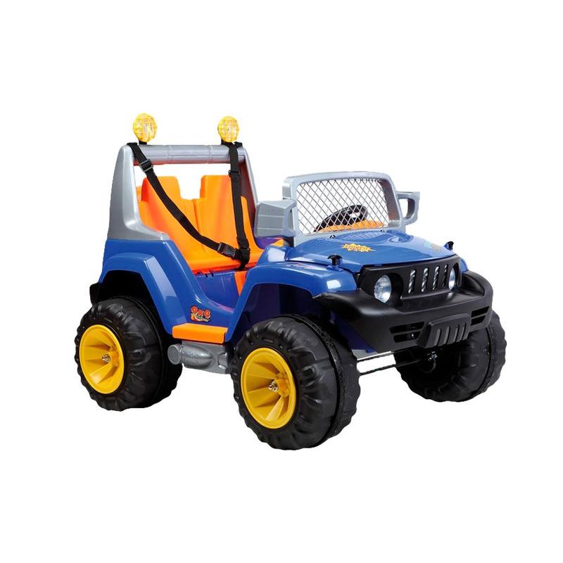 Kit Jeep 2 Crianças Off Road A18 Azul 933202 Belfix + Colete Boia Inflável Infantil Amarelo-1822- Mor<BR><BR>