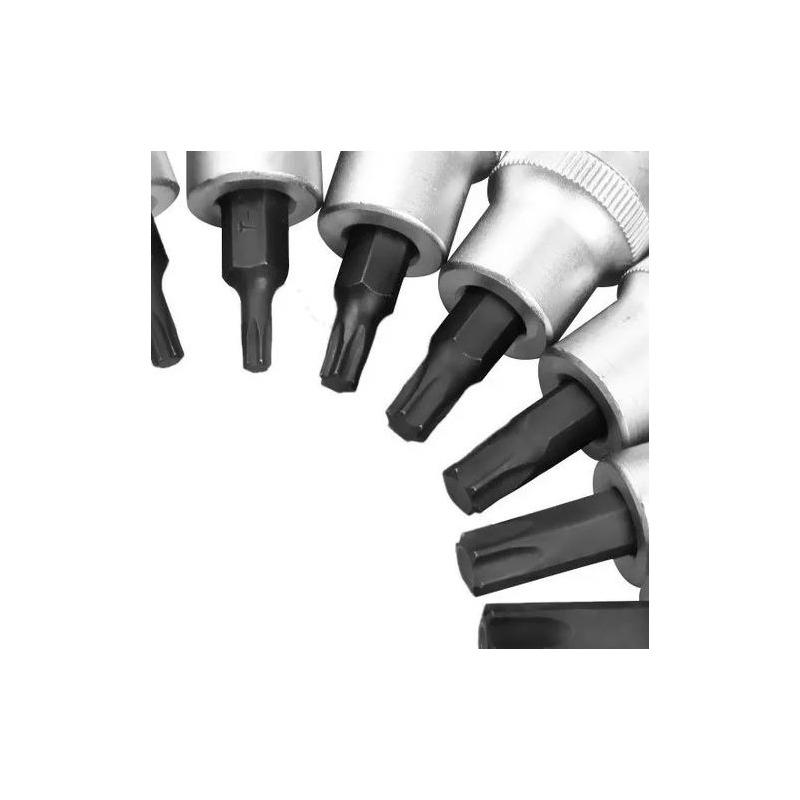 Jogo de Soquetes Torx Macho 7 Peças 1/2 Pol. TORX504 60357 - Robust
