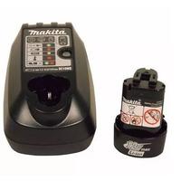 Kit com 1 Bateria 12V Íons de Lítio BL1014 + 1 Carregador de Bateria DC10WB - Makita - Bivolt