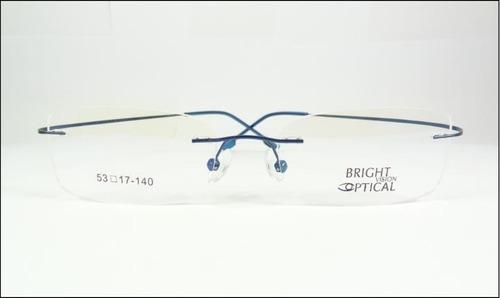 c9ea1578d Comprar Armação Azul Feita De Titanium Óculos De Grau Sem Aro - A574 ...