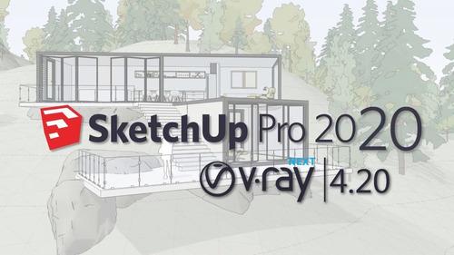 Sketchup 2020 Pro + Vray 4.2 + Bônus ( Blocos E Texturas ) Original
