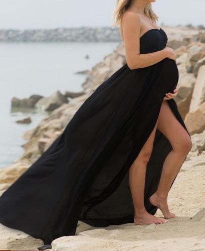 Vestido Longo Gestante Para Ensaio Fotográfico Original