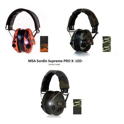 Abafador Fone De Ouvido Msa Sordin Supreme Pro X Com Luz Led
