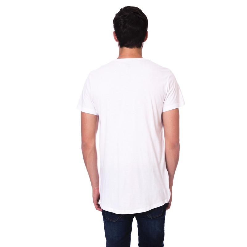 Camiseta Long Island Alongada Branca