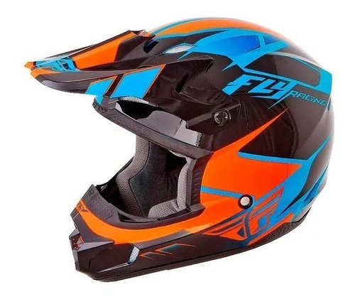Capacete Motocross Enduro Bmx Fly Kinect Impulse Laranja Original