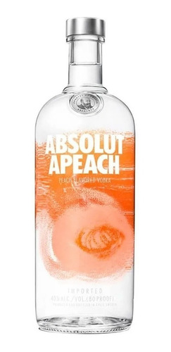 Vodka Absolut Apeach - Sabor Pessego 1l  Importada Original