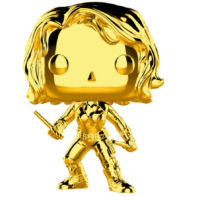 Black Widow Gold Chrome Pop Funko #380 - Marvel 10 Years Edition