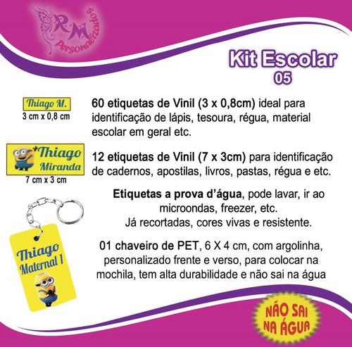 Etiqueta Personalizada - Kit Escolar 05