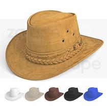 Chapeu Country Masculino Couro De Cowboy Australiano Preto a2878f318fc