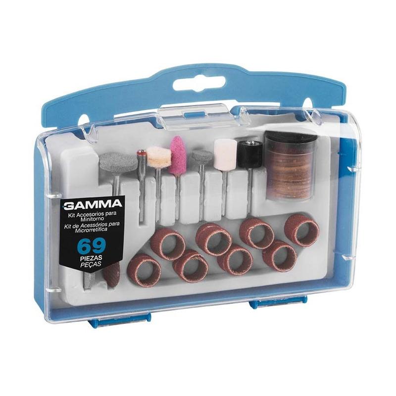Kit de Acessórios para Microrretífica com 69 Peças G19504AC - Gamma