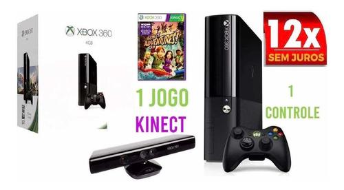 Xbox 360 Super Slim 4gb +kinect 1 Controle. E Nf Original