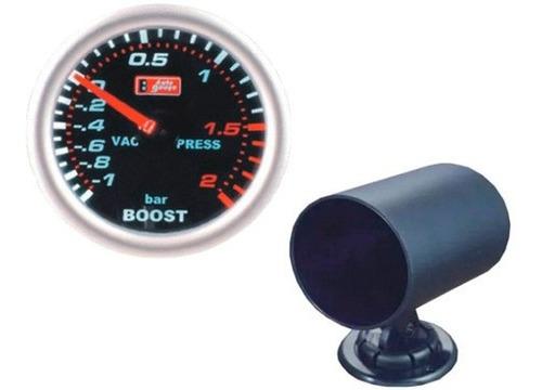 Auto Gauge Pressão De Turbo 2 Bar 52mm Serie Smoke C/ Copo Original