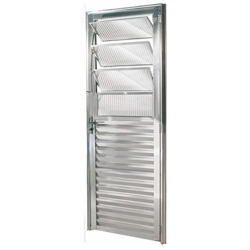 Porta De Alumínio Brilhante Basculante 2,10a X 0,80l Direito