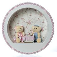 Nicho 3 Leds Família Urso Rosa