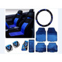 Kit Azul Capa Banco Carro tapeet Ford Ka 2007 2008 2009