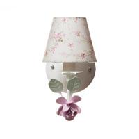 Arandela 1 Lampada Flor Grande Rosa