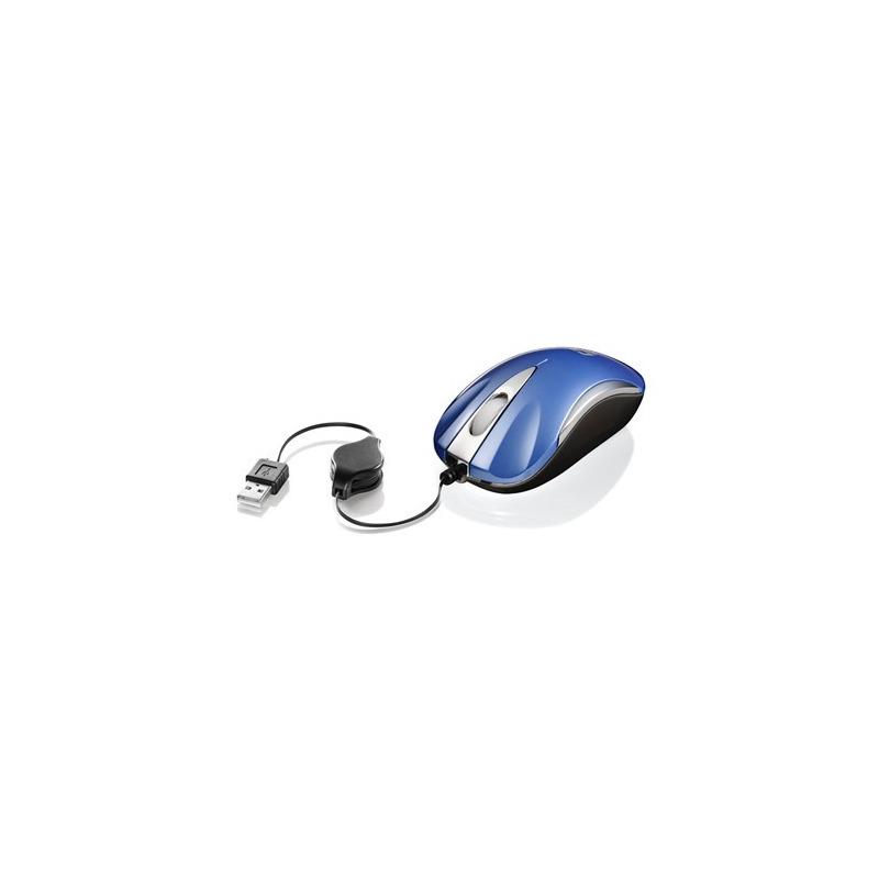 MOUSE USB MINI RETR MS3207-2 AZUL/PRATA C3T